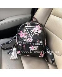 Рюкзак копия Guess в цветочный принт ручки с лого. Новая коллекция