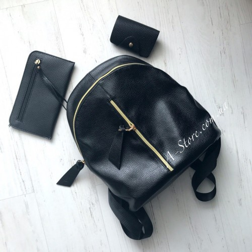 aa4fcf47dba7 Модный рюкзак шикарного качества. Визитница и кошелек в подарок