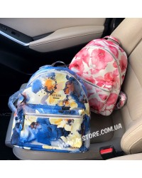 Супер-цена! Рюкзак копия Guess в цветочный принт. 2 цвета