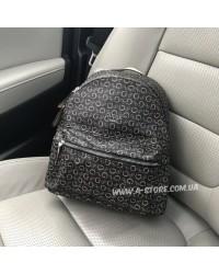 Рюкзак копия Guess коричневый monogram в наличии