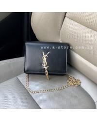 Мини-сумка в стиле YSL с кисточкой