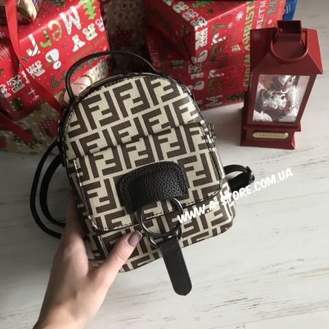 Мини -рюкзак в стиле Fendi