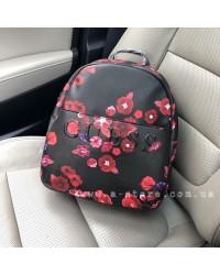 Вместительный рюкзак копия Guess в цветочный принт