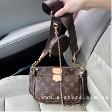 Сумка 3в1 Louis Vuitton Multi Pochette. Премиум качество. Подобран рисунок