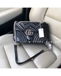 Модная сумка копия Gucci Marmont. Большой размер