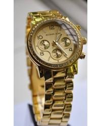 Модные часы MKors с календарем. Стразы