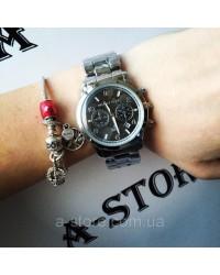 Эксклюзив. Часы женские копия Mich@el Kors с черным циферблатом. В наличии