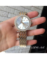 Часы копия Michael Kors. Комбинированные - золото и серебро. Стразы. 2 цвета