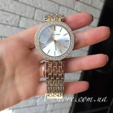 Часы копия Mich@el Kors. Комбинированные - золото и серебро. Стразы. 2 цвета