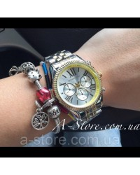 Часы копия Mich@el Kors. Двухцветные - золото + серебро. В наличии