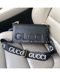 Сумка копия Gucci с ремешком с логотипами