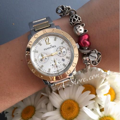 5e65c847 Красивые женские часы в стиле Pandora. Комбинированная расцветка